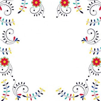 Floral flowers frame