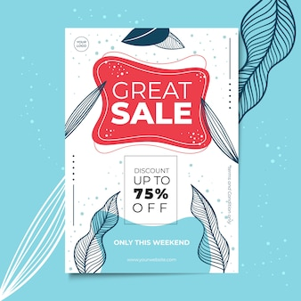 Floral flyer or poster template