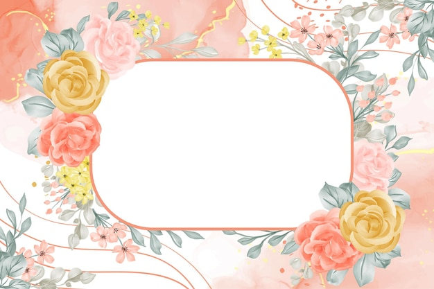 Цветочная рамка фон абстрактный с пробелом