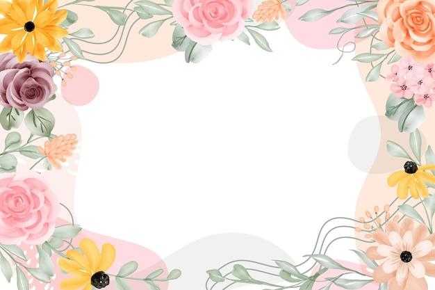 花のフレームの背景は、空白で抽象