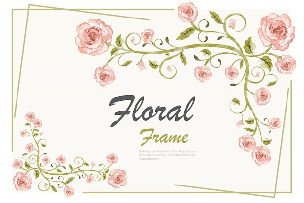 Floral frame background template