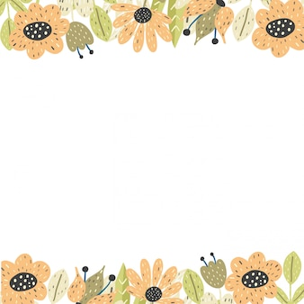 Floral frame background with copyspace