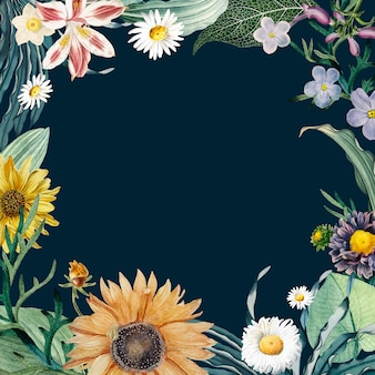 Floral frame background