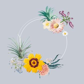 꽃 프레임 배지