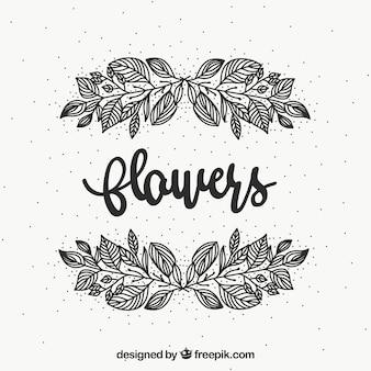 Cornice floreale in bianco e nero