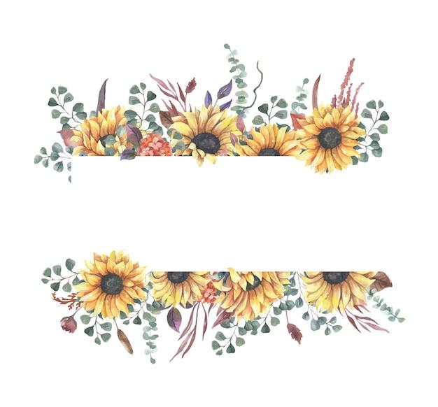 花のフレームの枠線