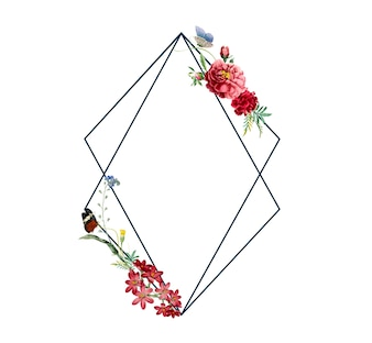 Floral frame card design illustration