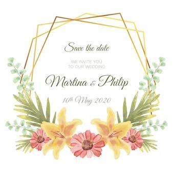 Floral frame design for wedding