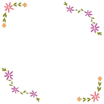 Floral frame edging borders