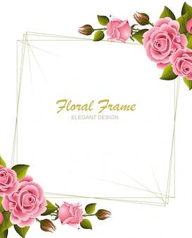 Floral frame elegant design. minimal modern