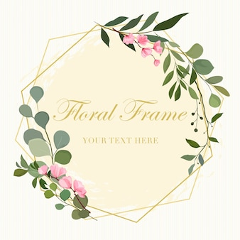 Floral frame, invitation card.