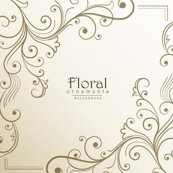 Floral frame on a light background