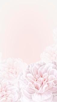 Floral frame mobile phone background