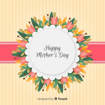 Floral frame mother's day background