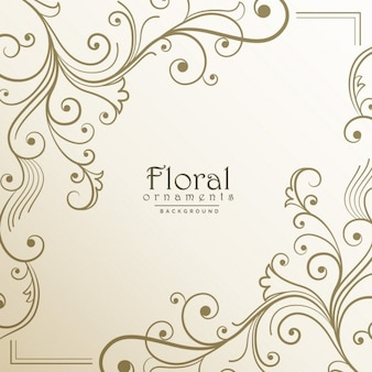Floral frame on a light background