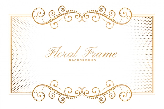 Floral frame in ornamental decorative style