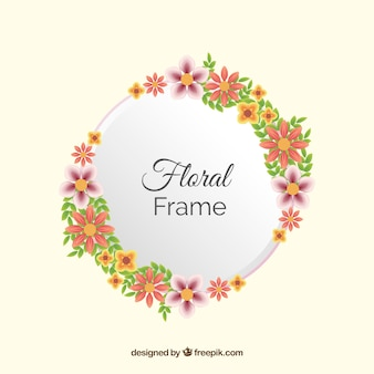 Cornice floreale in stile realistico