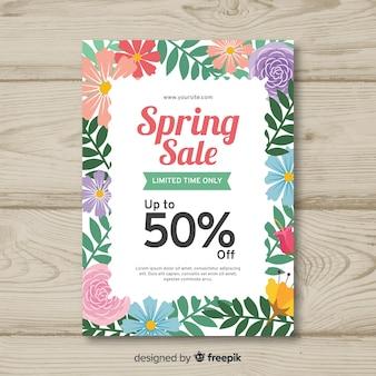 Floral frame spring sale poster