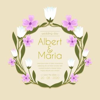 Floral frame template for wedding