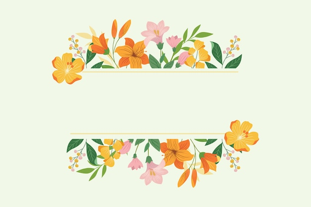 Floral frame template