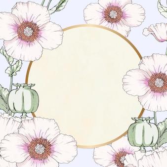 花フレームベクトルヴィンテージ手描き
