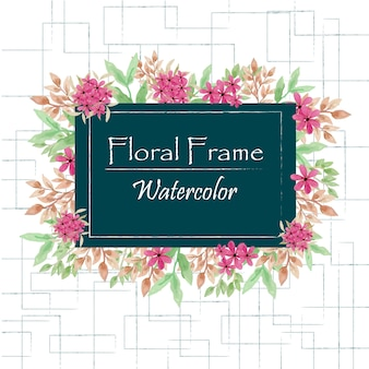 Floral Frame Watercolor
