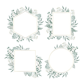 Floral frame for wedding