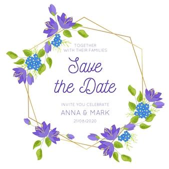 Floral frame for wedding