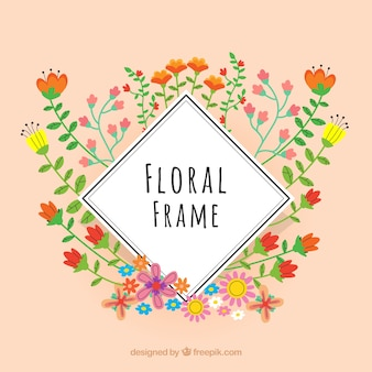 Floral frame with different species