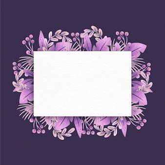 Цветочная рамка с пустым пространством