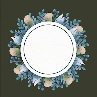 Floral frame with empty space
