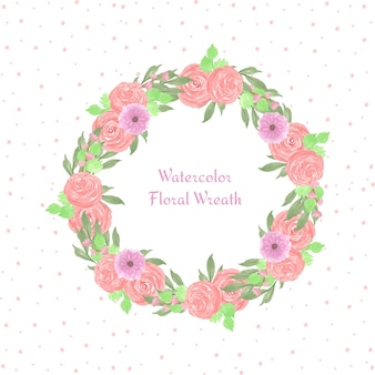 Floral frame with gorgeous flowers