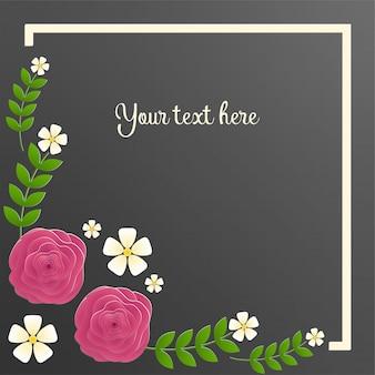 잎과 꽃으로 꽃 프레임