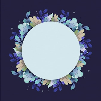 Floral frame with white space