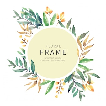 Floral Frame with Wild Herbs