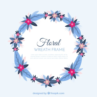 Floral frame with wreath design