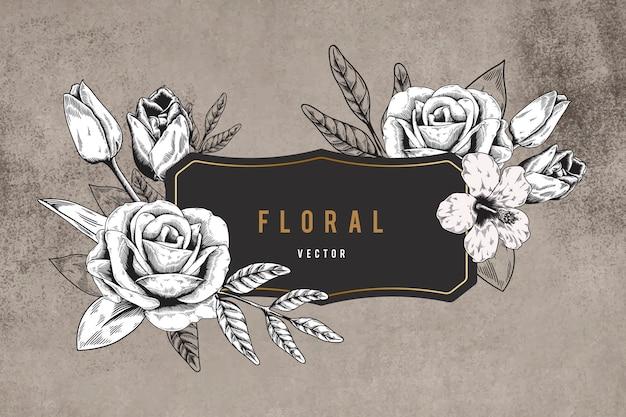 Floral framed background