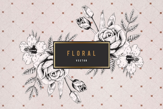 Floral framed background