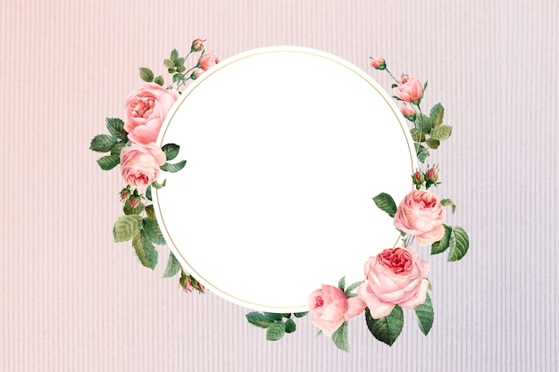 Floral framed badge