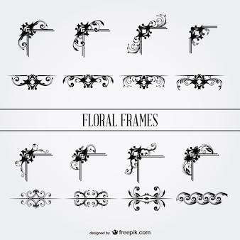 꽃 프레임 및 페이지 구분선 모음