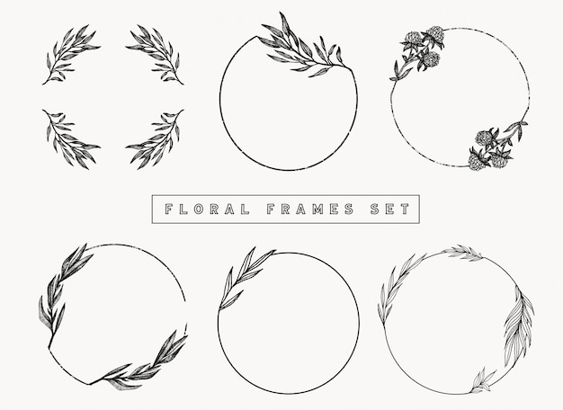 Floral frames and borders collection.