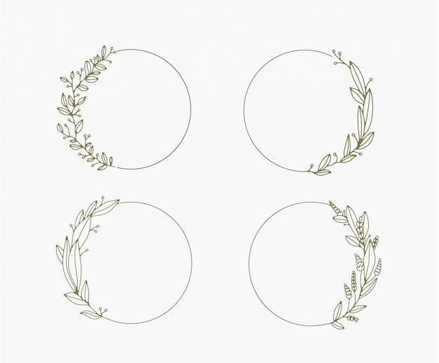 Floral frames and borders vector collection.