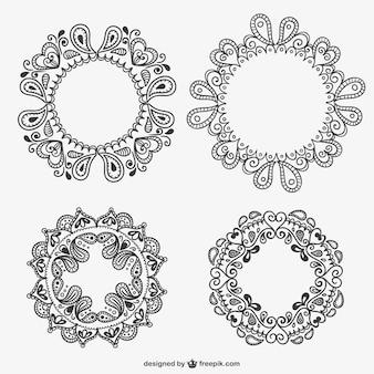 Floral frames pack