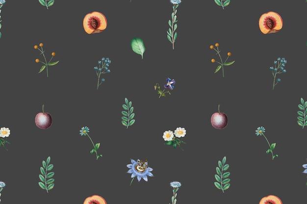꽃 과일 프레임 디자인