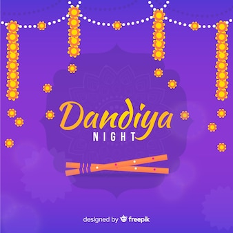 Floral garland dandiya background