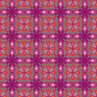花柄の幾何学模様
