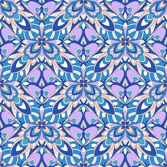 Floral and geometric  seamless pattern. tribal ethnic ornament
