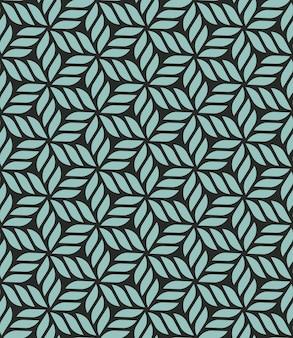 花の幾何学的なシームレスパターン
