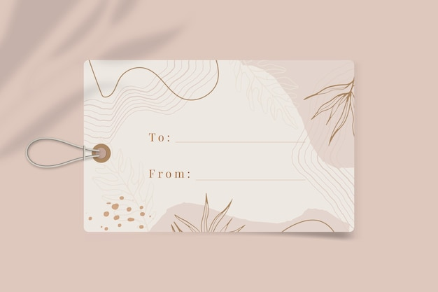 Floral gift label template