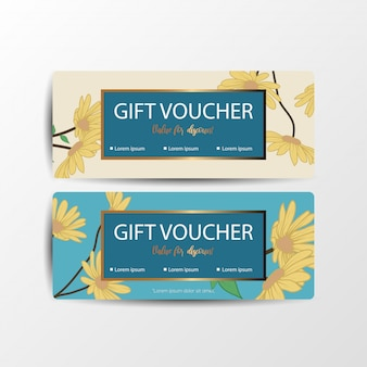 Floral gift voucher cards